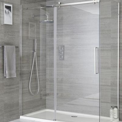 Trasformazione della vecchia vasca in una nuova doccia trasparente
