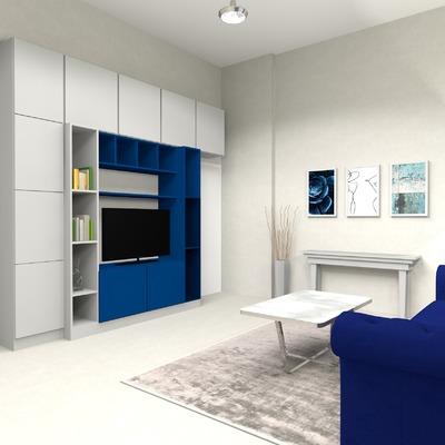 Progettazione libreria per salotto per casa privata
