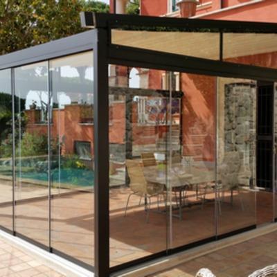 Pergola con vetrate