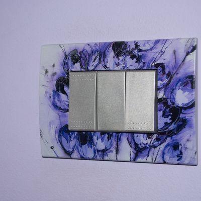 Placche interruttori personalizzate - effetto fantasia