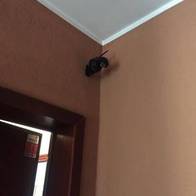Telecamera wireless su pianerottolo