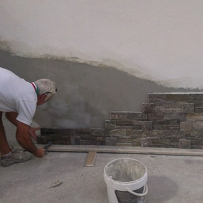 Rivestimento in pietra esterno