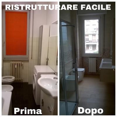 RISTRUTTURAZIONE BAGNO PRIMA E DOPO
