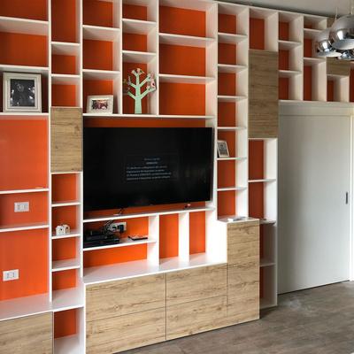 Libreria-parete TV