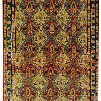 170x110 cm Antico Tappeto Varamin veramin (1244)