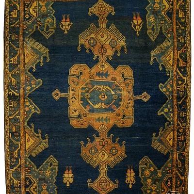 187x145 cm Tappeto antico azerbaijan Meshkin (1901)