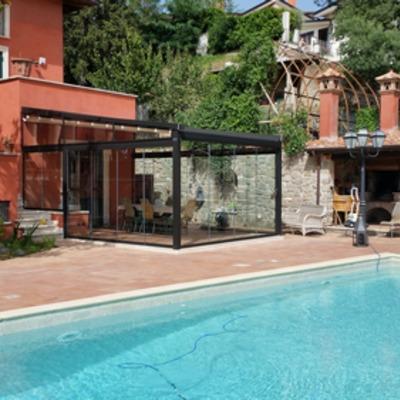 Tenda Gibus Mediterranea con vetrate