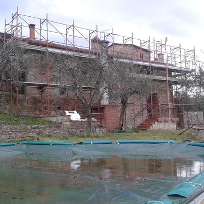 Ristrutturazione tetto casolare a Sinalunga (Si)
