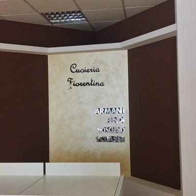 parete attrezzata in cartongesso, con velatura