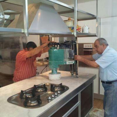 Lucidatura marmo cucina industriale