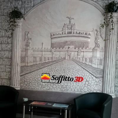 Bassorilievo parete 3x3m ufficio