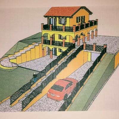 Villa in costruzione in collina