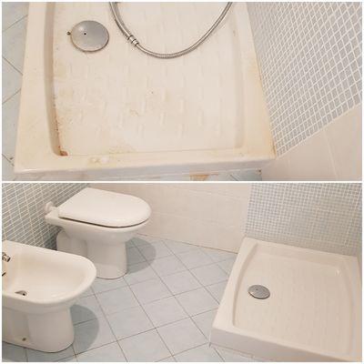 Pulizia apartamento post ristrutturazione (bagno)