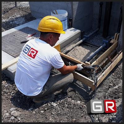 Realizzazione cordolo in cemento