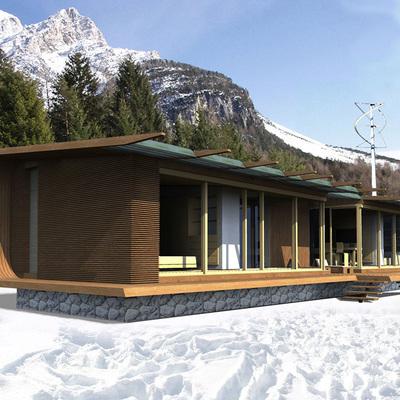 Una casa passiva prefabbricata per le vacanze