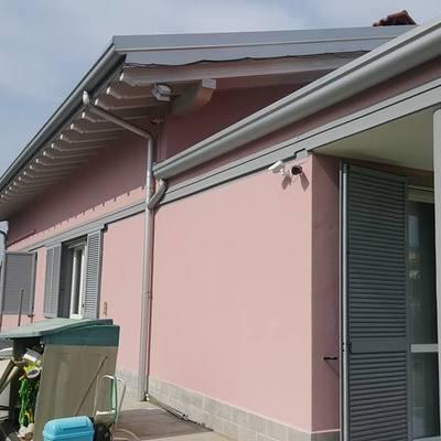 Tinteggiatura facciata villetta