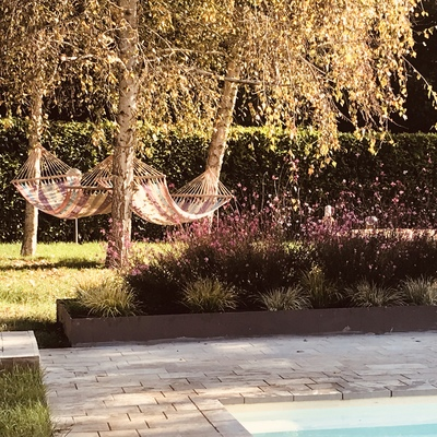Progettazione area esterna e piscina Gattico (NO)