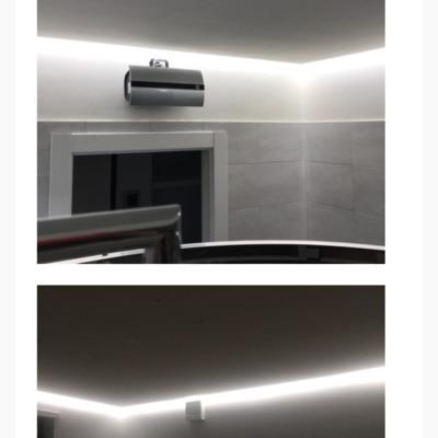 """Controsoffitto """"tappeto volante"""" con illuminazione led"""