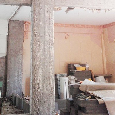 demolizione muraria