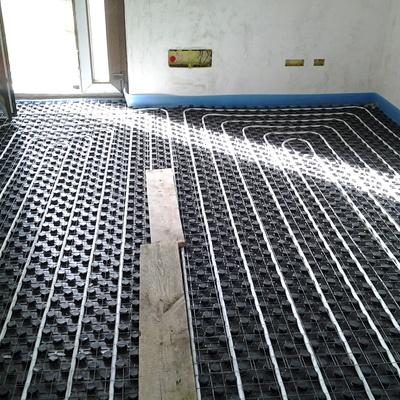 Particolare impianto riscaldamento a pavimento