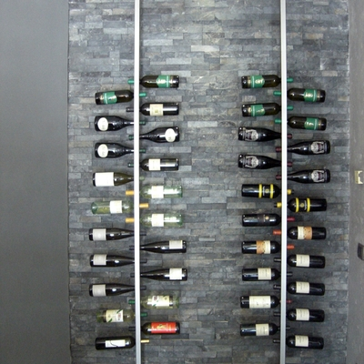 Cantina porta Bottiglie inox, Ristrutturazione locale commerciale