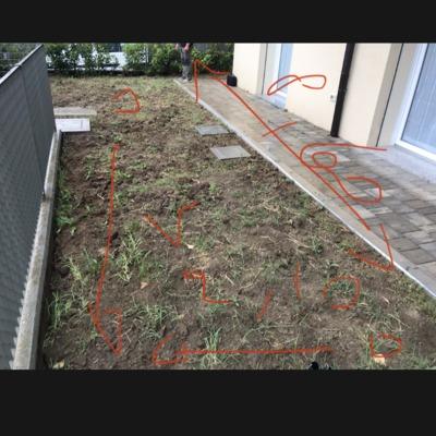 Rilievi per impianto di irrigazione e realizzazione giardino