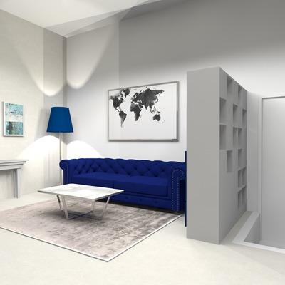 Progettazione salotto per casa privata