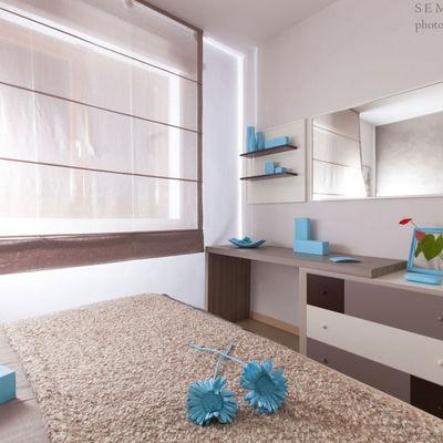 Como, scrivania e mensole su misura per camera da letto