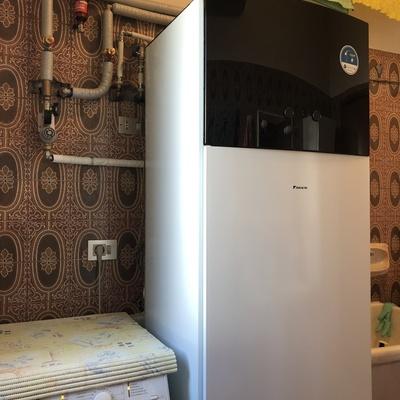 Pompa di calore DAIKIN per riscaldamento con termo sifoni ad alta temperatura