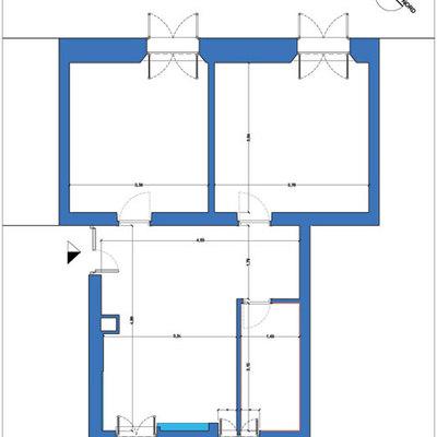 Progetto di ristrutturazione d'interni di un appartamento a Castro Pretorio