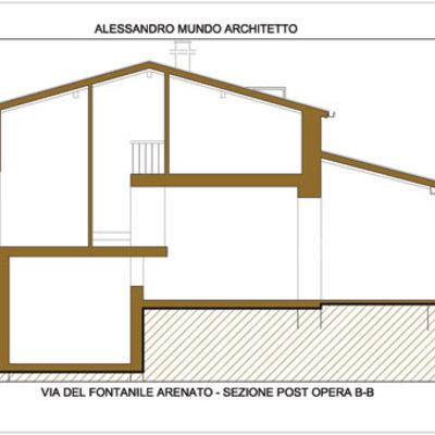 Progetto di Piano casa di una casa a schiera