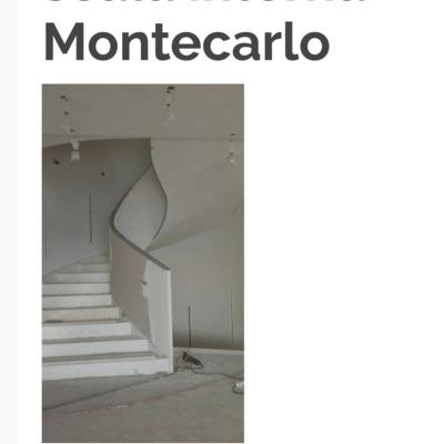 Scala curva in cartongesso Montecarlo