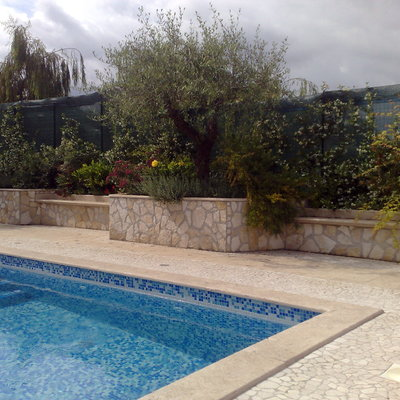allestimento piscina