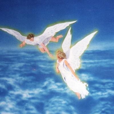 angeli su tela