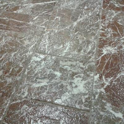 Anticatura pavimento in marmo