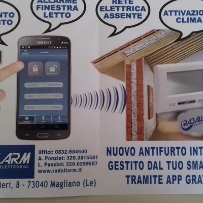 ANTIFURTO  interattivo da smartphone tramite APP gratuita.