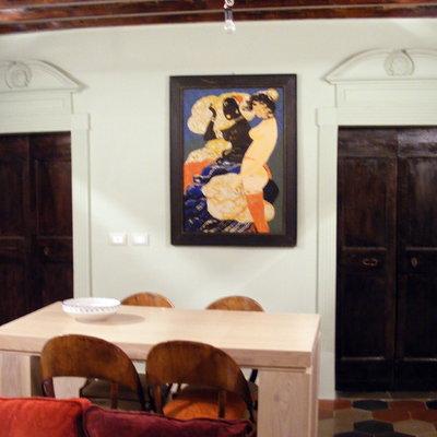 appartamento in palazzetto del '600 , prov. di Roma , anno 2011