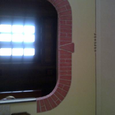 arco finti mattoni