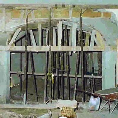 Arco strutturale in maschio murario