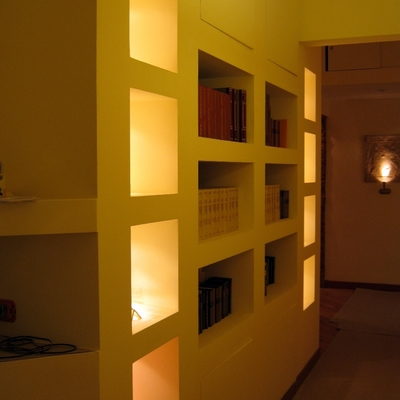 Armadio-libreria in cartongesso