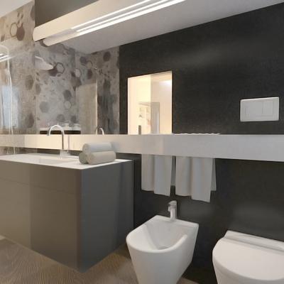 bagno con mobile e lavabo modulnova