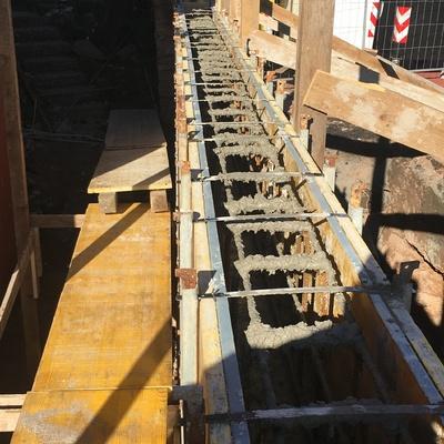 Realizzazione muro in cemento