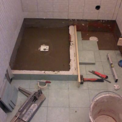 Bagno doccia in muratura