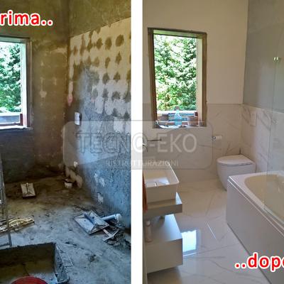 Ristrutturazione bagno a Padova, quartiere San Bellino Prima e dopo i lavori