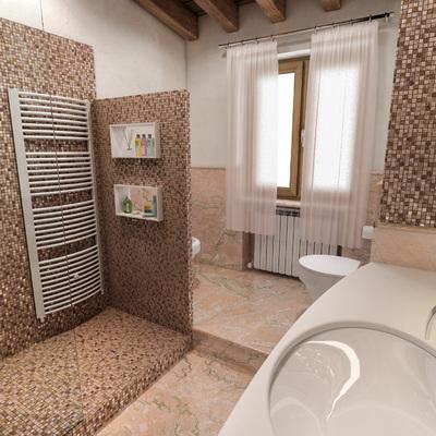 Idee e foto di bagni marroni per ispirarti habitissimo - Idee ristrutturare bagno ...