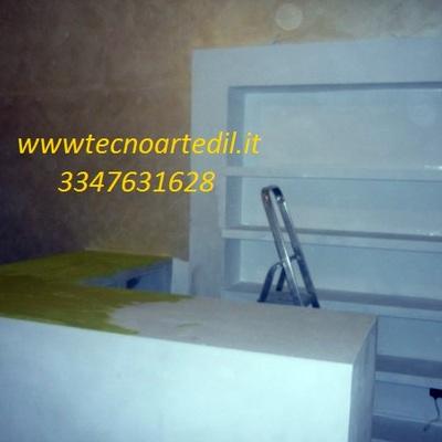 Bancone in cartongesso Negozio Milano