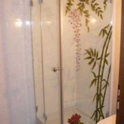 box doccia vetro cristallo decorato