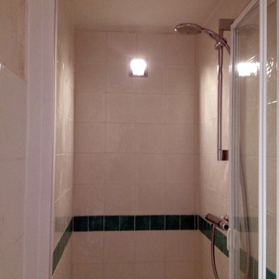 Cabina doccia in muratura