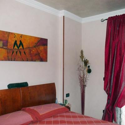 Camera da letto in stucco veneziano