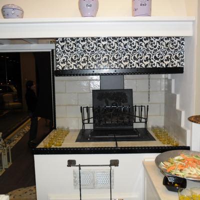 caminetto da cucina